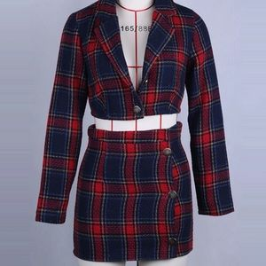 Plaid Two piece Set will Negotiate Price For You